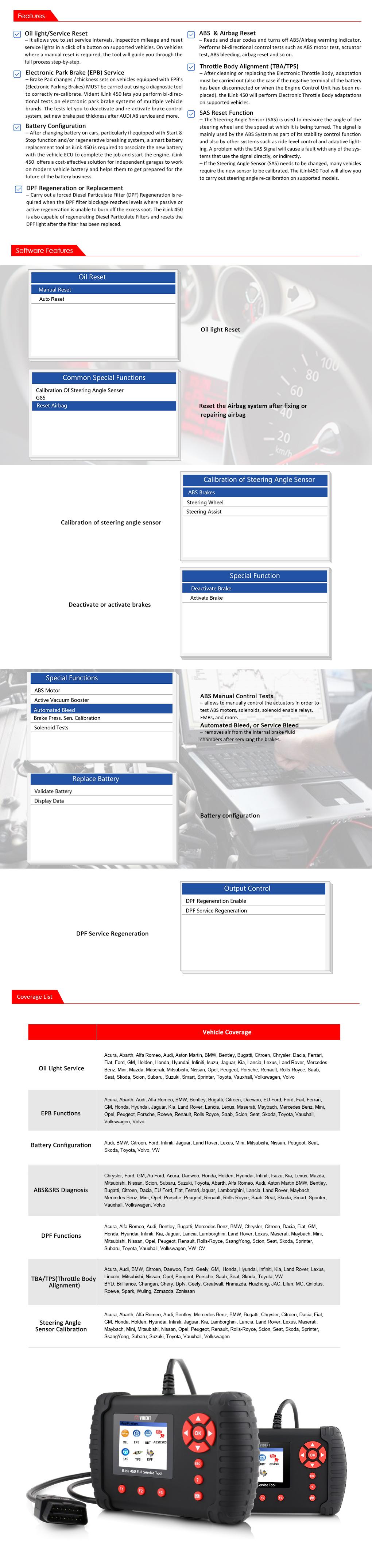 iLink450 Full Service Tool